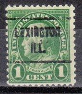 USA Precancel Vorausentwertung Preo, Locals Illinois, Lexington 632-721 - Vereinigte Staaten