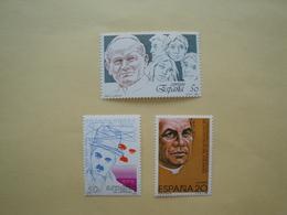 1989 Espagne  Yv 2637/8 - 2643  ** MNH  Cote 2.70 € Michel 2901 - 2903 -2908 Scott 2605 - 2607 - 2609 SG ... - 1981-90 Nuovi