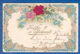 Blumen; Fleurs; Art Nouveau; Prägekarte; Gaufrée - Blumen