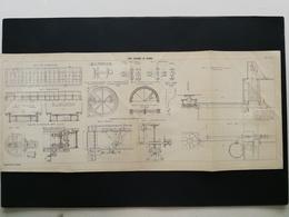 ANNALES PONTS Et CHAUSSEES (Dep 42) - Plan Du Pont Tournant De Roanne - 1906 (CLE85) - Travaux Publics