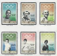 SHARJAH 1968 - SPORT - VINCITORI OLIMPICI  - USATI ATTACCATI SU CARTONCINO - Sharjah
