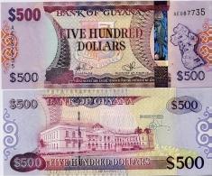 GUYANA       500 Dollars       P-37        ND (2011)       UNC - Guyana