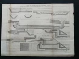 ANNALES DES PONTS Et CHAUSSEES - Plan Du Canal Du Centre Des écluses A Grande Chute - Gravé Par Macquet 1892 (CLE86) - Travaux Publics