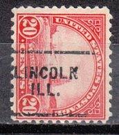 USA Precancel Vorausentwertung Preo, Locals Illinois, Lincoln 698-703 - Vereinigte Staaten