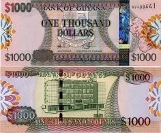 GUYANA       1000 Dollars       P-38b        ND (2011)       UNC - Guyana