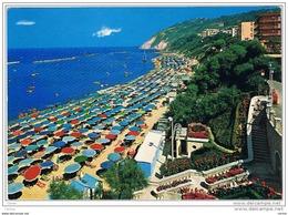 GABICCE  MARE :   LA  SPIAGGIA  CON  IL  MONTE  -  PER  LA  SVIZZERA  -  FG - Pesaro