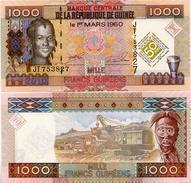 GUINEA      1000 Francs    Comm.   P-43      1.3.2010      UNC - Guinée