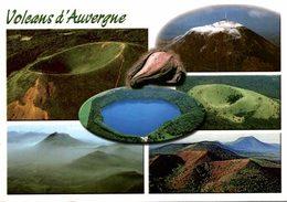 CPA MULTIEVUE - VOLCANS D'AUVERGNES - DIVERS PUYS - Auvergne Types D'Auvergne