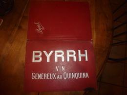 Classeur Pour Menus BYRRH Vin Généreux Au Quinquina - Maison L. VIOLET Frères à THUIR (Pyrénées Orientales) - Autres Collections