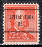 USA Precancel Vorausentwertung Preo, Locals Illinois, Little York 713 - Etats-Unis