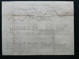 ANNALES DES PONTS Et CHAUSSEES (Dep 13) - Canal Du Verdon , Profil Général - E.Pérot -1881 (CLE89) - Zeekaarten