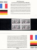 POCHETTE EMISSION COMMUNE XXVe ANNIVERSAIRE TRAITE COOPERATION FRANCO ALLEMANDE - INCOMPLET    /TBS - Blocs Souvenir