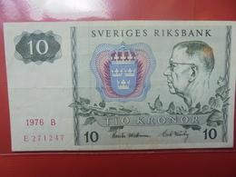 SUEDE 10 KRONOR 1976 CIRCULER - Suède