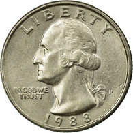 Monnaie, États-Unis, Washington Quarter, Quarter, 1988, U.S. Mint - 1932-1998: Washington