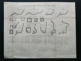 ANNALES DES PONTS Et CHAUSSEES (Dep 13) - Canal Du Verdon , Profil Types De La Cuvette - E.Pérot -1881 (CLE90) - Travaux Publics