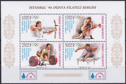 Türkei, 1996, 3085/88 Block 31, 100 Jahre Olympische Spiele Der Neuzeit. MNH ** - Blocks & Sheetlets