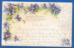 Blumen; Fleurs; 1900 Stempel Uetersen Und Elmshorn - Blumen