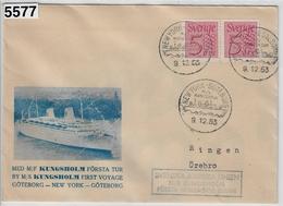 New York-Göteborg Svenksa Amerika Linien M/S Kungsholm  Första Hemgäende Resan 9.12.1953 Illustriert - Maritime