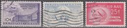 UNITED STATES       SCOTT NO. C42-44       USED        YEAR  1949 - Air Mail