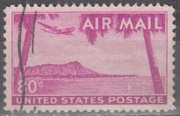 UNITED STATES       SCOTT NO. C46       USED        YEAR  1952 - Air Mail