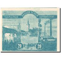 Billet, Autriche, Guntramsdorf, 20 Heller, Village, 1920 SPL Mehl:FS 310a - Autriche