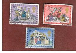 GRAN BRETAGNA (UNITED KINGDOM) -  SG 1104.1106  -  1979 CHRISTMAS  - USED - 1952-.... (Elisabetta II)
