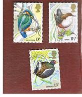 GRAN BRETAGNA (UNITED KINGDOM) -  SG 1109.1111  -  1980 WILD BIRDS PROTECTION ACT - USED - 1952-.... (Elisabetta II)