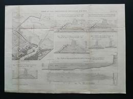 4ANNALES DES PONTS Et CHAUSSEES (DEP 62) - Port En Eau Profonde De Boulogne-sur-mer - Gravé Par Macquet 1893 (CLE92) - Public Works