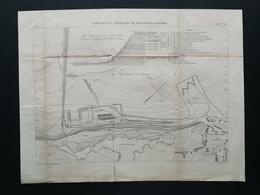 4ANNALES DES PONTS Et CHAUSSEES (DEP 62) - Port En Eau Profonde De Boulogne-sur-mer - Gravé Par Macquet 1893 (CLE93) - Public Works