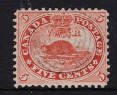 Canada 1859 Beaver 5c Pale Red Used - SG 31, Sc 15 - - Used Stamps