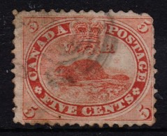 Canada 1859 Beaver 5c Pale Red Used - SG 31, Sc 15 - - - Used Stamps