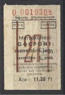 Hungary, Special Raiway Ticket,1960. - Europa