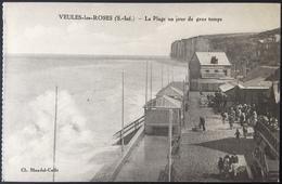 Carte Postale - Veules-les-Roses - La Plage Un Jour De Gros Temps - Blondel-Collé - Veules Les Roses