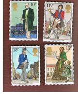 GRAN BRETAGNA (UNITED KINGDOM) -  SG 1095.1098 -  1979 SIR R. HILL CENTENARY (COMPLET SET OF 4)- USED - 1952-.... (Elizabeth II)