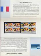 POCHETTE EMISSION COMMUNE JEUX OLYMPIQUES D'ETE 1992    /TBS - Blocs Souvenir