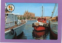 MALLORCA Detalle Del Puerto Y Catedral  Blasón - Mallorca