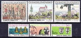 Tchécoslovaquie 1970 Mi 1928-33 (Yv 1772-7), Obliteré - Tchécoslovaquie