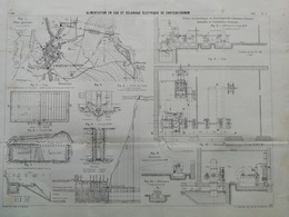 ANNALES DES PONTS Et CHAUSSEES (DEP 58) - Alimentations électriques De Chateau Chinon - L. Courtier - 1900 (CLE94) - Travaux Publics