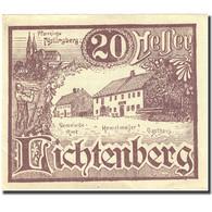 Billet, Autriche, Lichtenberg, 20 Heller, Ferme 1920-12-31, SUP+ Mehl:FS 518a - Autriche