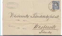 Pfg132/ DEUTSCHLAND - Mi.Nr. 134a (Hellultramarin) Geprüft, 1876 Nach Westervik (Schweden) Ex Hamburg - Allemagne