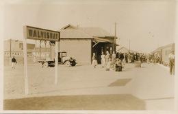 Real Photo  Walvisbay Train Station With Train  Photo Electra N. Wintz Swakopmund S.W.A. - Namibia