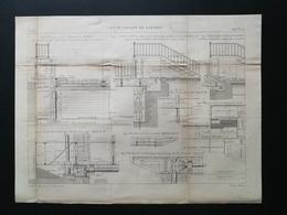 ANNALES DES PONTS Et CHAUSSEES (DEP 21) - Pont Levant De Larrey - 1893 - Macquet (CLE99) - Public Works