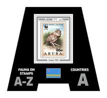 SIERRA LEONE 2019 - Fauna, Aruba: Owl. Official Issue. - Postzegels Op Postzegels