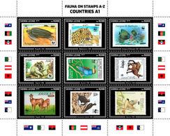 SIERRA LEONE 2019 - Fauna On Stamps A1. Official Issue. - Postzegels Op Postzegels
