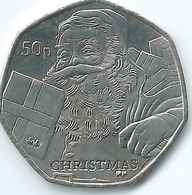 Isle Of Man - Elizabeth II - 2011 - 50 Pence - Christmas - KM1453 - Monnaies Régionales