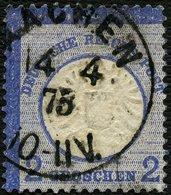 DT. REICH 1873, Nr. 20, K1 AACHEN, STARK DEZENTRIERT, TIEFST BPP SIGN, TOPP! - Deutschland
