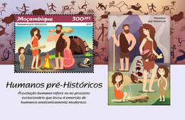 MOZAMBIQUE 2019 - Prehistoric Humans, Archery S/S. Official Issue - Boogschieten