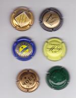 Lot De 6 Capsules Muselets De Champagne - Champagne