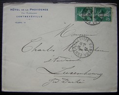 Contrexeville Hôtel De La Providence Près L'établissement, Lettre Pour Le Grand Duché Du Luxembourg - 1877-1920: Période Semi Moderne