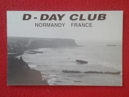 POSTAL TYPE POST CARD QSL RADIOAFICIONADOS RADIO AMATEUR D - DAY CLUB DÍA NORMANDY FRANCE NORMANDÍA WORLD WAR II BEACH - Tarjetas QSL